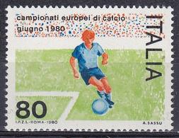 Italien Italy Italia 1980 Sport Spiele Fußball Football Soccer Europameisterschaft EM Championship, Mi. 1693 ** - 1971-80: Ungebraucht