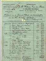 Factuur Imprimerie Willems 1920, Gericht Aan VOLLEZELE, Schoolhoofd De Coster, Bestelling Schoolgerief + Kwijtingzegel - Printing & Stationeries