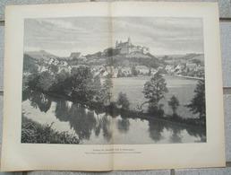 1226 Comburg Schwäbisch-Hall Dorfbild Großbild Druck 1902 !! - Historische Dokumente