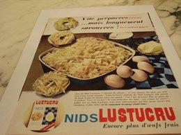 ANCIENNE PUBLICITE NIDS DE  LUSTUCRU 1964 - Affiches