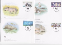 WWF - CONGO - 2006- WWF - HIPPOPOTAMUS SET OF 4 FDCS - Myanmar (Burma 1948-...)
