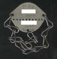 Plaque D'identification De Soldat - Centre Mobilisateur De Dijon - Classe 1924 - Equipaggiamento