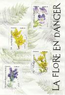 France 2019 Feuillet Fleurs Oblitéré / Used Flowers M/S - Sheetlets