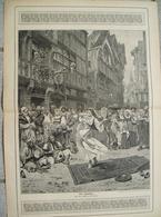 1230 A. Moreau Zigeuner Tanz 28 X 42 Cm Druck 1904 !! - Drucke