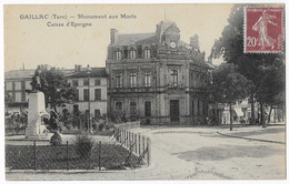 Gaillac Monument Aux Morts Caisse D' Epargne - Gaillac