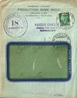 """5101 """"CONSORZIO ITALIANO PRODUTTORI SEME BACHI-MILANO """" FATTURA COMMERCIALE QUIETANZATA DEL 8/5/1932 - ORIG. - Italie"""