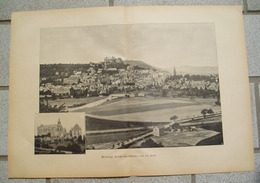 1231 Marburg Schloss Stadtbild 40 X 28 Cm Druck 1897 !! - Unclassified