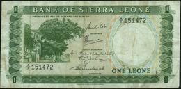 SIERRA LEONE - 1 Leone Nd.(1964-1970) {serial # Prefix A/7 - A/8} Fine P.1 B - Sierra Leone