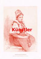 1234 Fritz Reiss Schwarzwälderin Schwarzwald Kunstblatt 1899 !! - Gegraveerde Prenten