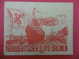 NORDDEUTSCHER LLOYD BREMEN PAQUEBOT - Publicités