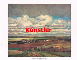 1235 Robert Weise Oberbayerische Ebene Dorfbild Kunstblatt 1910 !! - Drucke
