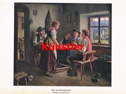 1236 Emil Rau Lieblingsbild Bauernstube Bauern Kunstblatt 1907 !! - Drucke