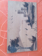 Carte Postale En Bois . Chateau - Phantasie