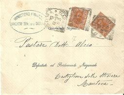 """5102 """"MINISTERO DELLE FINANZE-DIREZ. GEN. DELLE GABELLE-MISSIVA DEL 1888 INDIRIZZATA AL DEP. AL PARLAMENTO NAZ. """"-ORIG. - Italy"""
