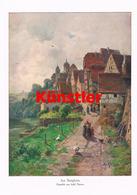 1237 Adolf Thamm Besigheim Landschaft Dorfbild Kunstblatt 1913 !! - Drucke