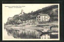 AK Sasbach I. B., Uferpartie Und Burgruine, Gasthaus Z. Limburg - Sasbach