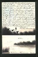 Künstler-AK Handgemalt: Chiemsee, Ansicht Des Chiemsees - 1900-1949