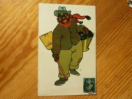 CPA 1908 Homme Noir Panier Et Balai  Theo Stroefer's Kunst Série 440 Numéro 4 - Altre Illustrazioni