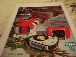 ANCIENNE PUBLICITE PLAISIR DE LA MUSIQUE ELECTROPHONE TEPPAZ 1963 - Autres