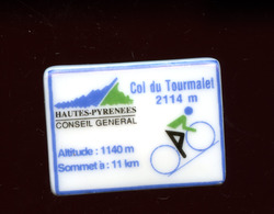 """FEVE - FEVES -  """"PERSO"""" - CONSEIL GENERAL HAUTES-PYRENEES - COL DU TOURMALET ALTITUDE 1140 M - VELO CYCLISME - Geluksbrengers"""