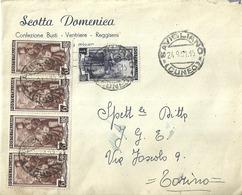 """5103 """"SCOTTA DOMENICA-SAVIGLIANO-CONF. BUSTI-VENTRIERE-REGGISENI""""-ORIG. - Italy"""