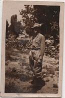 Fotografia Cm. 5,9 X 9 Con Alpino - Guerra, Militari