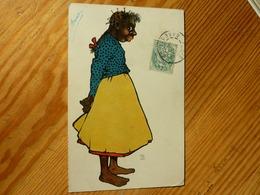 CPA 1908 Femme Noire Pieds Nus  Theo Stroefer's Kunst Série 440 Numéro 1 - Altre Illustrazioni
