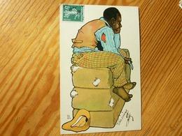 CPA 1908 Homme Noir Sur Balles De Coton  Theo Stroefer's Kunst Série 440 Numéro 19 - Altre Illustrazioni