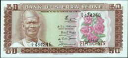 SIERRA LEONE - 50 Cents 01.07.1979 UNC P.4 C - Sierra Leone
