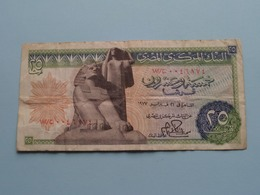 Twenty-Five PIASTRES 25 / Central Bank Of EGYPT ( For Grade, Please See Photo ) ! - Egipto