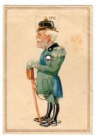 RARE CARTE A SYSTEME CARICATURE MILITAIRE: 8 DIVERSES CASQUETTES 1911 - 1945: - Uniformes