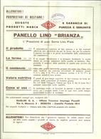 """5109 """"PANELLO LINO BRIANZA-MARCA GSA(GASLINI)-GENOVA """"- OPUSCOLO ORIG. - Italy"""