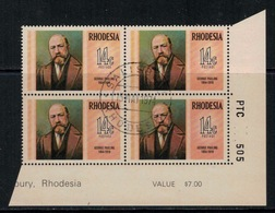 Rhodesie Du Sud // Rhodesia // 1974 // Georges Pauling Oblitéré No. Y&T 233 En Bloc De 4 - Southern Rhodesia (...-1964)