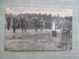 CPA 51 ENVIRONS DE REIMS LA GRANDE GUERE 1914-15 ENTERREMENT SOLDAT INFANTERIE PRETRE MILITAIRES - Reims