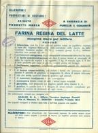 "5110 ""FARINA REGINA DEL LATTE-MARCA GSA(GASLINI)-GENOVA ""- OPUSCOLO ORIG. - Italy"