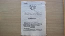 REGNO ITALIA DECRETO 9.6.1867 CAMBIO NOMI PAESI MANTOVA BORGOFRANCO CASTELLARO PIEVE POGGIO SERRAVALLE - Decreti & Leggi