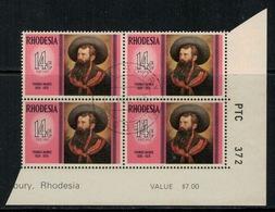 Rhodesie Du Sud // Rhodesia // 1975 // Thomas Baines Oblitéré No. Y&T 253 En Bloc De 4 - Southern Rhodesia (...-1964)