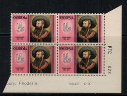 Rhodesie Du Sud // Rhodesia // 1975 // Thomas Baines MNH** No. Y&T 253 En Bloc De 4 - Southern Rhodesia (...-1964)