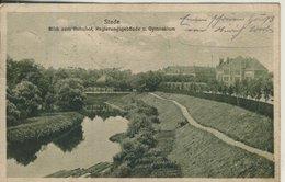 Stade V. 1923  Blick Zum Bahnhof,Regierungsgebäude Und Gymnasium  (57221) - Stade