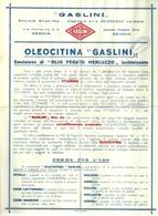 """5112 """"OLEOCITINA GASLINI-EMULSIONE DI OLIO FEGATO MERLUZZO LECITINIZZATO-GASLINI-GENOVA """"- OPUSCOLO ORIG. - Italy"""