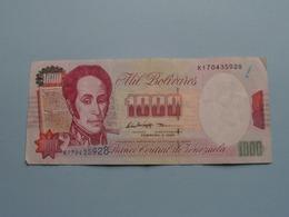 1000 Mil BOLIVARES ( 1998 ) Banco Central De Venezuela ( For Grade, Please See Photo ) ! - Venezuela
