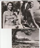 3 CPSM:JEUNE TAHITIENNE,DANSEUSE TAHITIENNE,TAHITI CÔTE EST - Cartoline