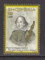 2014 Albania Albanie Shakespeare Literature Drama  Complete Set Of 1 MNH  @ BELOW Face Value - Albanië