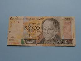 20000 Veinte Mil BOLIVARES ( 2001 ) Banco Central De Venezuela ( For Grade, Please See Photo ) ! - Venezuela