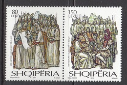 2014 Albania Albanie Kuci Assembly Complete Set Of 2 MNH  @ BELOW Face Value - Albanië