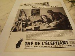 ANCIENNE PUBLICITE JEUNE FRANCAIS ET THE DE L ELEPHANT  1964 - Affiches