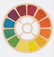 Pegantina Sticker Autocollant / REUDA DE COLORES - Pegatinas