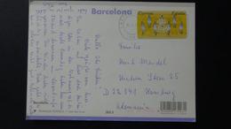 Spain - 1993 - Mi:ES AT7, Yt:ES DI9 On Postcard - Look Scans - 1991-00 Briefe U. Dokumente