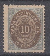 +D3266. Danish West Indies 1873. AFA 11. Unused Without Gum - Denmark (West Indies)