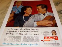 ANCIENNE  PUBLICITE SUPER DENTIFRICE COLGATE 1964 - Perfume & Beauty